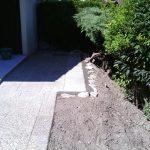 Agrandissement et repose de dalles graviers lavés